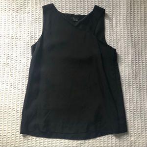 Theory Nebia Black Silk Top size Small